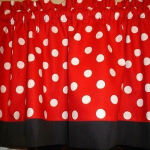 Red Polka Dot Minnie Mouse Valance